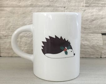 Holiday Hedgehog Espresso Mug