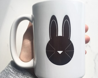 Black and white Bunny Mug