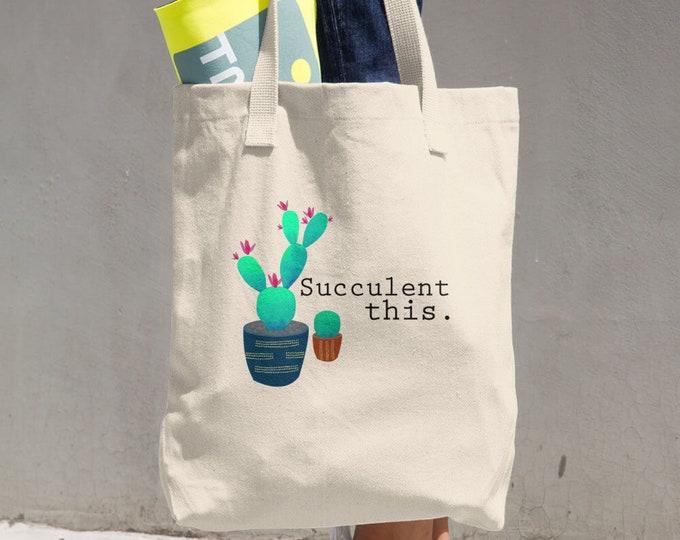 Succulent This. Cotton Tote Bag