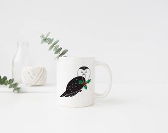 Holiday Owl Mug