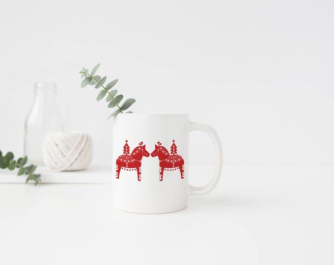 Personalized Christmas Dala Mug