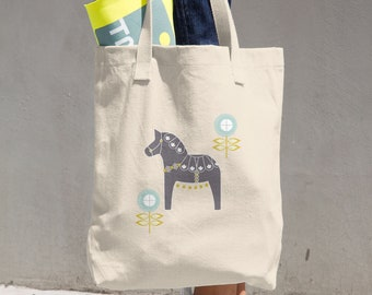 Canvas Tote Bag, Horse Bag, Tote Bag, Canvas Bag, Canvas Tote, Reusable Tote, Reusable Bag, Cloth Bag