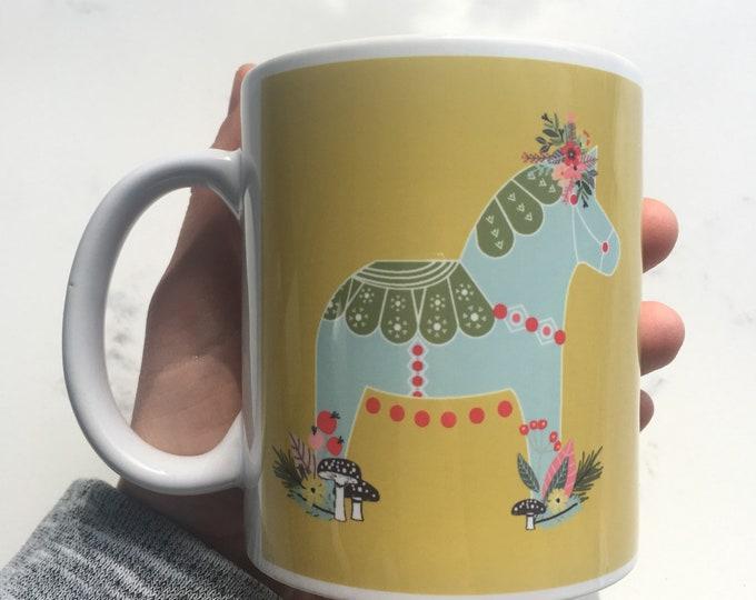 Woodland Dala Horse Mug