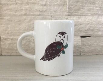 Holiday Owl Espresso Mug