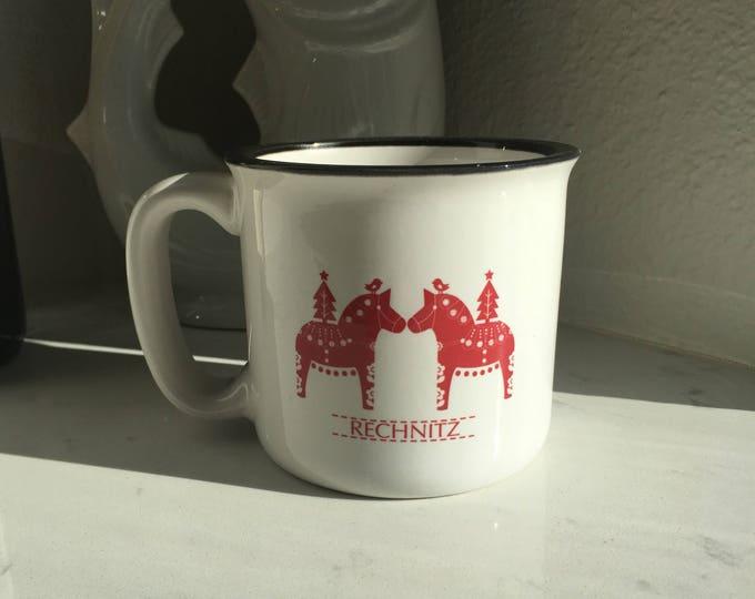 Campfire Christmas Dala Horse Mug, Personalized