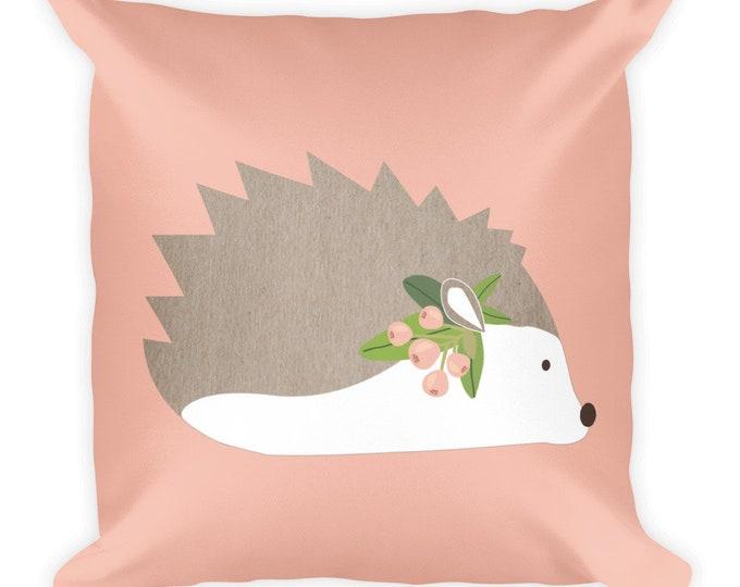 Hedgehog Square Pillow