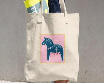 Horse Bag, Canvas Tote Bag, Tote Bag, Canvas Bag, Canvas Tote, Horse, Reusable Tote, Reusable Bag, Cloth Bag