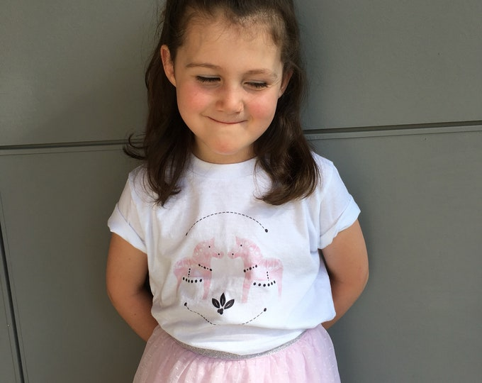 Dala Horse Toddler Short sleeve kids t-shirt