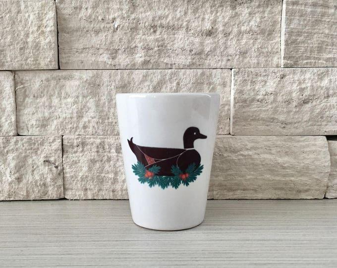 Duck Mug, Duck Shot Glass, Shot Glass, Holiday Duck, Christmas Duck, Duck, Hostess Gift, Stocking StufferTiny Pot, Tiny Planter