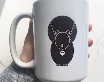 Black and White Squirrel Mug