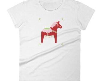 Women's Dala Horse short sleeve t-shirt, Dala Horse Shirt