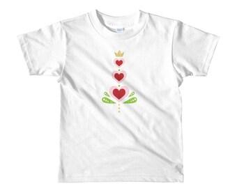Toddler Short sleeve t-shirt, Valentine Hearts T-Shirt, Hearts