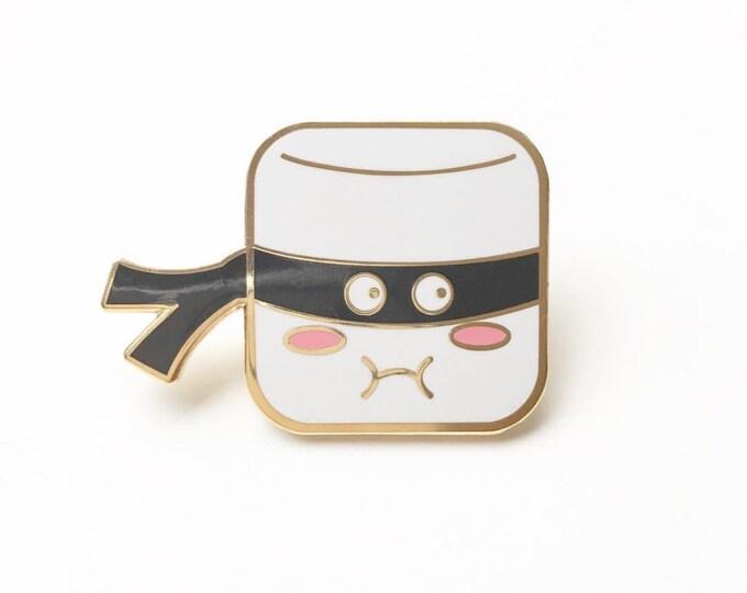 Marshmallow Ninja Enamel Pin