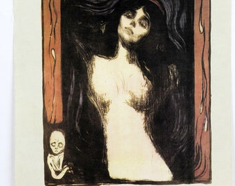"""1970 Vintage MUNCH /""""THE DANCE OF LIFE/"""" COLOR offset Lithograph"""