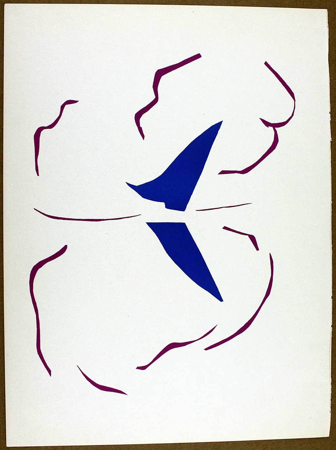 Vintage HENRI MATISSE Original Lithograph 1958 Color Art image 0