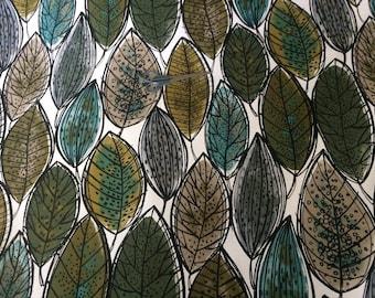 Scandinavian Cotton fabric Leaf  Plants   - 59 inches (150 cm) wide