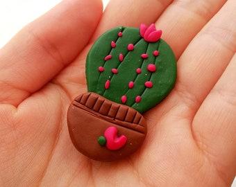 Cactus pin Cactus lover gift Succulent pins Cactus Cute pins Polymer clay pins Polymer clay cactus Gift for her Gift for Girlfriend Cactus