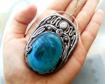 Unique Handmade Necklace Bohemian necklace Spiritual Jewelry Metallic Necklace Boho necklace Bohemian Jewelry Metaphysical Jewelry Necklace