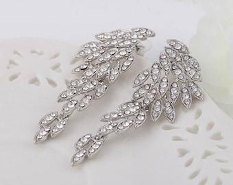 MEGAN Chandelier Earrings, Crystal Earrings, Crystal Earrings, Bridal Jewelry, Crystal Wedding Earrings ,Long Great Gatsby 1920s earrings