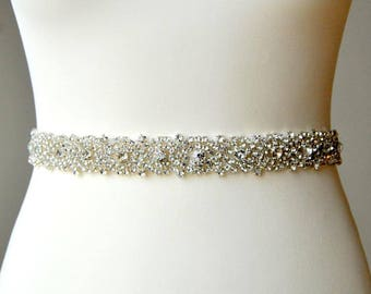 Stunning Crystal Bridal Sash,Wedding Dress Sash Belt, Rhinestone Sash, Rhinestone Bridal Bridesmaid Sash Belt, Wedding dress sash -AURORA