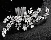 Bridal Headpiece NERINE Wedding Hair Pin Rhinestone Accessories Bridal Hair Comb Crystals Hair Comb, Bridal Head Piece hair Jewelry