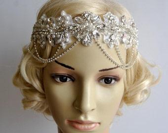 88c97fcfc5b30 Glamour Rhinestone flapper Gatsby Headband