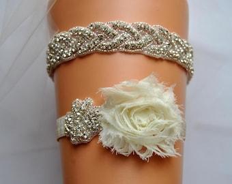 ba29c3255 Bridal Garter Wedding Garter Set Crystal Rhinestone Garter Toss Garter  Keepsake Garter Ivory White Shabby Chic Garter Shop Best Seller