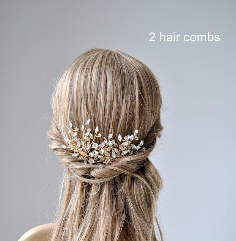 Boho Wedding Headpiece LARA Silver Gold Boho Hair Vine Comb Wedding Hair Vine Wedding Pearl Hair Comb Bridal Pearl Flower Hair Comb