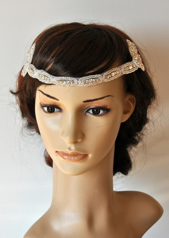 1920s The Great Gatsby flapper Headpiece Vintage Inspired  691d058505f
