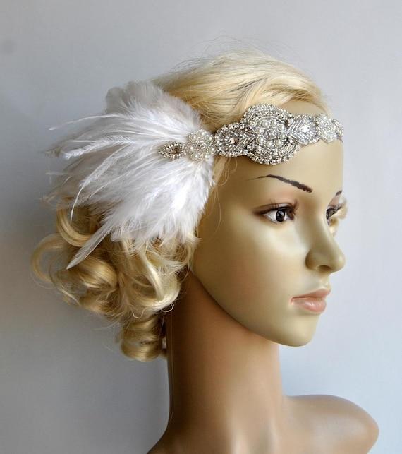 Rhinestone flapper Gatsby Wedding Headband Crystal Headband  c15799a23e0