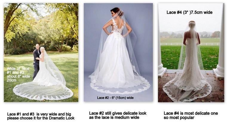 ivory Lace Wedding bridal Veil Fingertip veil Bridal Double lace veil 2 tier Bridal lace Veil Wedding lace veil white