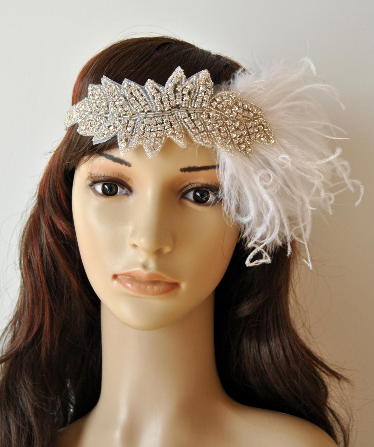 Crystal 1920s Flapper Headpiece The Great Gatsby Bridal
