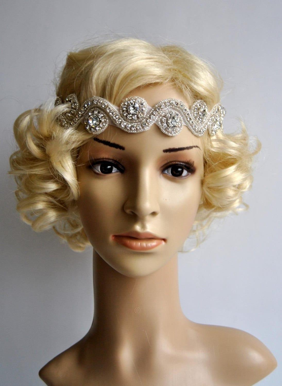 Rhinestone Headband Wedding Headband Crystal Headband Etsy