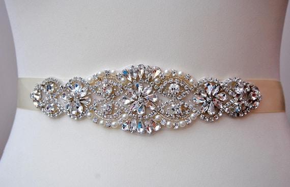 Unique Wedding Dress Sashes Belts: Dress Sash Belt Luxury Crystal Bridal Sash Rhinestone Sash
