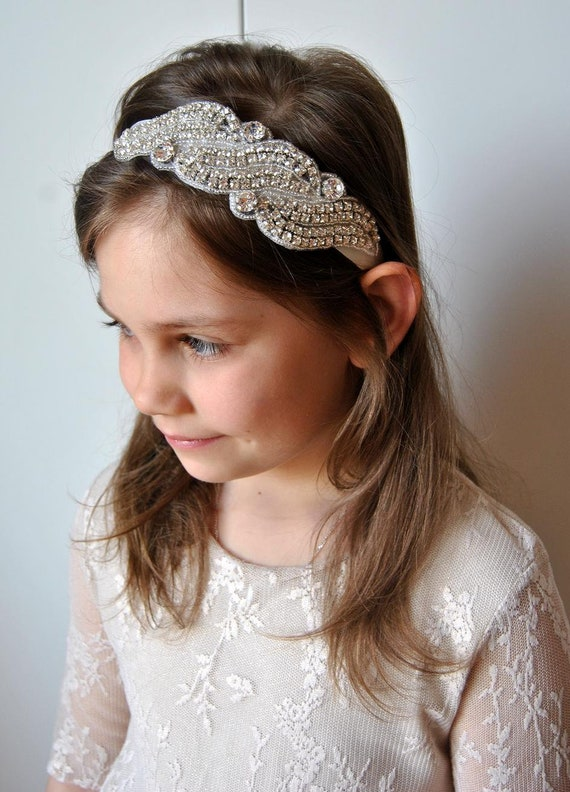 Flower girl Rhinestone Headband Baby Headband newborn  ad60d9d6586