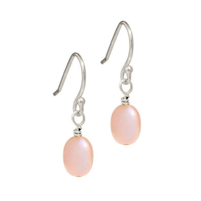 e4b295662 Pink Freshwater Pearl Earrings Pearl Drop Earrings Pink | Etsy