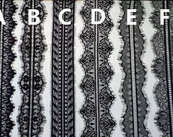 2 Yd net Lace Trimming bilatéralement Scallop Edge 45 mm Wide Crafts Vintage Wedding