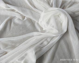 Silk mesh tulle ,30g/m2,off white tulle ,little stretch silk tulle