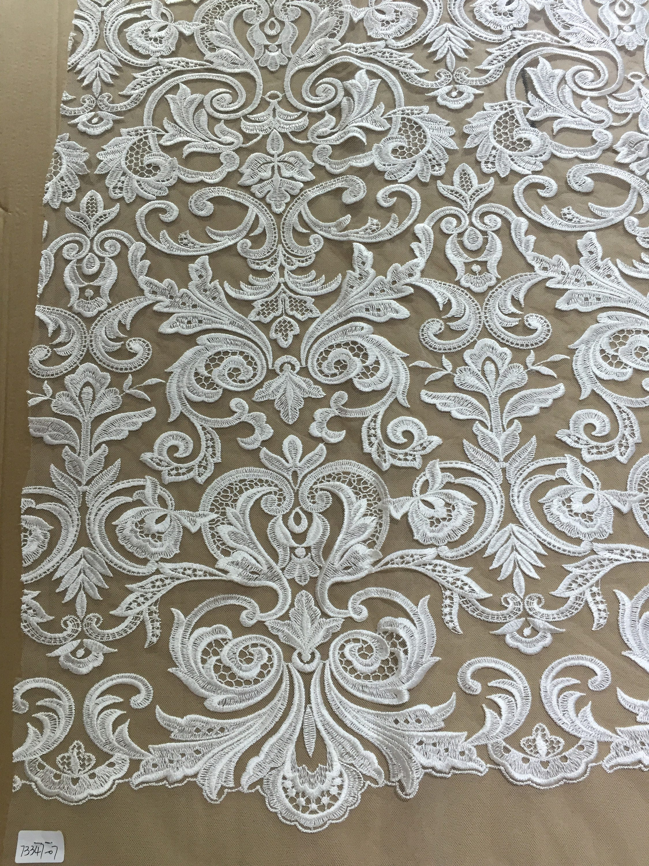 Tissu de dentelle florale par yard, mariage broderie dentelle tulle dentelle mariage yard, dentelle tissu alencon dentelle tissu 5c610b
