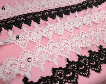 off white lace trimming , Black lace trim for DIY sewing,white lace trim
