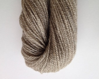 067 Handspun Natural Pale Gray Romney Yarn