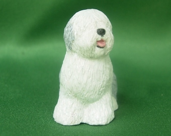 Old English Sheepdog Mini Figurine