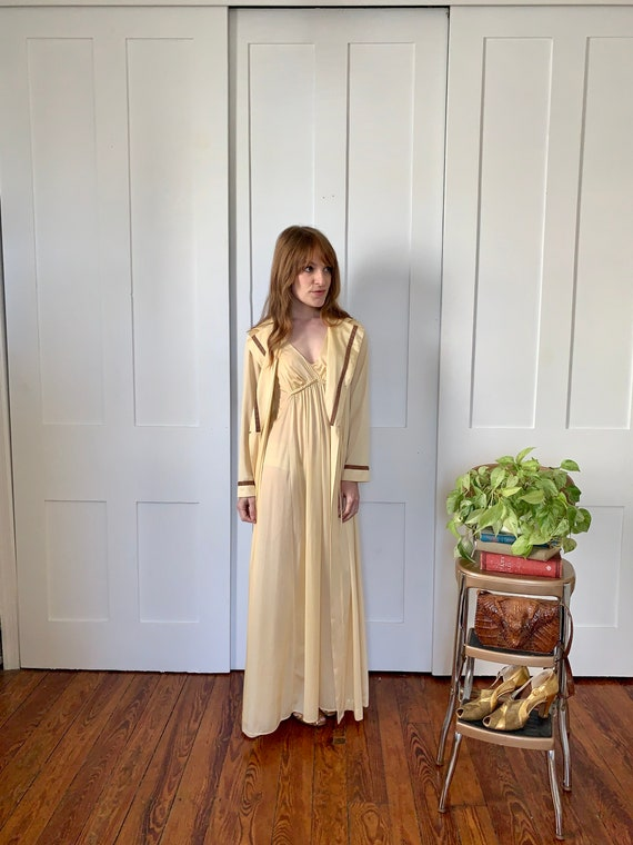 Vintage Vanity Fair Full Length Nightgown and Robe