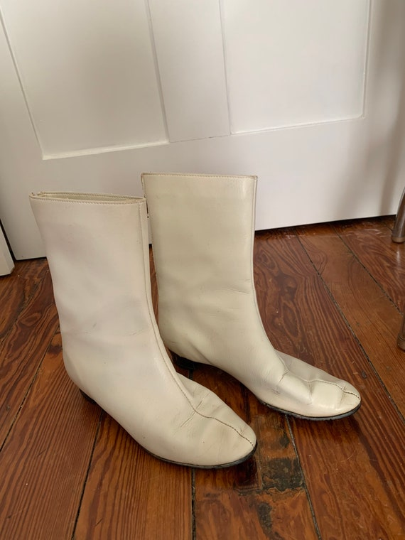 1960s Bootinos by B.F. Goodrich White Go Go Boots