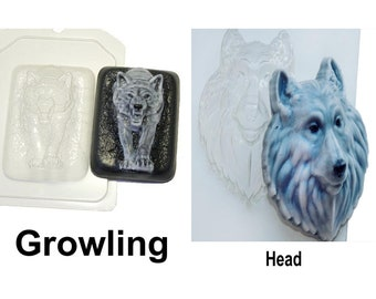 1pc Wolf Gothic Halloween Animal Plastic Soap Making Mold Mould
