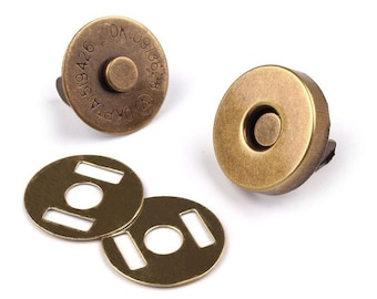 Haberdashery 5set Nickel Magnetic Snap Closures Ø15mm Fasteners Metal Hardware