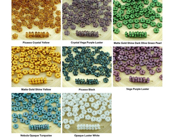 80pcs Matte California Gold Czech Glass Round Faceted Fire Polished Beads 4mm