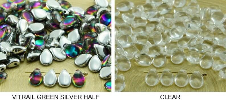 20pcs Crystal Clear Teardrop Tear Drop Czech Glass Beads 9mm x 6mm