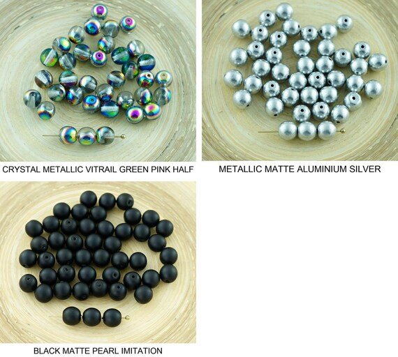 Varios Colores Cristal Checo Presiona Daga//granos de gota 16//5MM