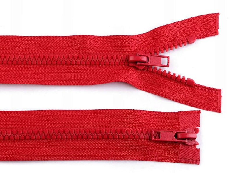 1pc Plastic Jacket Zipper 5mm Open-end Zipper 2 Sliders Length  Vislon With Two Two-way Zippers Haberdashery